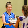 Raiders #35 Anna O'Farrell is given a birthday cake by Marshwoods #13 Leah Glidden after the Marshwood Girls Basketball vs Dublin Raiders exhibition girls basketball game during the week long Maine-Ireland Basketball Tour on Thursday @ Eliot Baptist Church, Eliot ME on 7-30-2015.  Matt Parker Photos