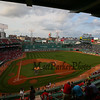 Fenway Park prior the the start of Tuesday Night's Baseball Game between the Boston Red Sox vs Miami Marlins on Tuesday 7-7-2015 @ Fenway Park, Boston MA Red Sox-4, Marlins-3.  Matt Parker Photos