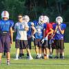 Coach Larry Francoeur gives instructions to the players at the 2015 Winnacunnet Warriors Veer Camp on Sunday 8-2-2015 @ Winnacunnet High School.  Matt Parker Photos