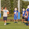 Larry Francoeur gives instructions to the players at the 2015 Winnacunnet Warriors Veer Camp on Sunday 8-2-2015 @ Winnacunnet High School.  Matt Parker Photos