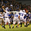 Winnacunnet Warriors Div I Boys Football vs Merrimack Tomahawks on Friday Night Lights @ WHS on 9-11-2015.  Matt Parker Photos