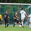 Winnacunnet Warriors Boys Soccer Game between the Bulldogs of Bedford on Thursday @ WHS on 9-17-2015.  Matt Parker Photos
