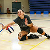 Winnacunnet Senior Paige Duffy dives for a low hit ball during the Winnacunnet Girls Volleyball practice on Wednesday @ WHS on 9-2-2015.  Matt Parker Photos