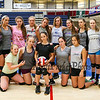 Winnacunnet JV Girls pose for a serious photo except for one after Wednesday's practice @ WHS on 9-2-2015.  Matt Parker Photos
