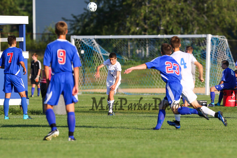 Winnacunnet Warriors Boys Soccer vs Londonderry High School on Friday 9-4-2015 @ WHS.  Matt Parker Photos