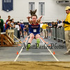Winnacunnet's Catherine Shanley jumps for an 8th place finish with a distance of 14-03.75 in the Girls Long Jump on Sunday at the NH Indoor Track and Field League Evening Session Meet #4  on 1-11-2014 @ the UNH Paul Sweet Oval, Durham, NH.  Matt Parker Photos