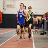 Winnacunnet's Jacob Dumont leads a pack of runners in the Boys 1000m run finishing 7th with a time of 3:03.70 on Sunday at the NH Indoor Track and Field League Evening Session Meet #4  on 1-11-2014 @ the UNH Paul Sweet Oval, Durham, NH.  Matt Parker Photos