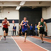Winnacunnet's Ryan Hanley and Dover's Christian Seaver battle in the Boys 55m Dash with Seaver taking 1st with a time of 6.60 and Hanley running in 2nd with the same time on Sunday at the NH Indoor Track and Field League Evening Session Meet #4  on 1-11-2014 @ the UNH Paul Sweet Oval, Durham, NH.  Matt Parker Photos