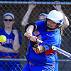 Winnacunnet's Ashley Bezemes concentrates on connecting with the ball during Monday's DIV I Girls Softball Home Opener between Winnacunnet and  Concord's Crimson Tide on 4-13-2015 @ WHS.  Matt Parker Photos