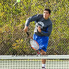 Winnacunnet's Nick Minichello serves the ball to Alvirne's Jared Whalen in the Boys #2 Seed Singles DIV I Tennis match on Monday between Winnacunnet and Alvirne High Schools on 5-18-2015 @ WHS.  Matt Parker Photos