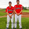 Booma's John Ferrelli (L) and Aaron Gareau (R) of Hampton pose for a photo prior to Wednesday's American Legion baseball game between Portsmouth Booma Post 6 and Dover Post 8 on 7-15-2015 @ Dover High School.  Matt Parker Photos