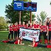 Scarborough's 11-12's players and coaches pose for a photo after winning the 2015 Maine Little League 11-12 Softball State Championships Major Division, York All Stars District 4 vs Scarborough @ South Berwick, ME on Thursday 7-16-2015.  Matt Parker Photos