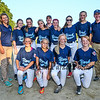 York All Stars 11-12's players and coaches pose for a photo after the 2015 Maine Little League 11-12 Softball State Championships Major Division, York All Stars District 4 vs Scarborough @ South Berwick, ME on Thursday 7-16-2015.  Matt Parker Photos