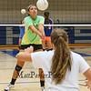 Winnacunnet's Junior Maddie Allen passes the ball to Sophmore Rose Slayton during a drill at Thursday's Girls Varsity Volleyball preseason practice on 8-20-2015 @ WHS.  Matt Parker Photos