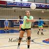 Winnacunnet's Junior Maddie Allen bumps the ball during a drill at Thursday's Girls Varsity Volleyball preseason practice on 8-20-2015 @ WHS.  Matt Parker Photos