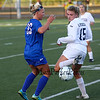 Winnacunnet's #33 Nicole Leibundgut and Exeter's #15 Lydia Peucker look to control the ball during Friday's Div I Girls Soccer game between Winnacunnet and Exeter High Schools on 9-25-2015 @ EHS.  Matt Parker Photos
