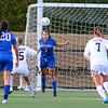 Winnacunnet's defender #3 Isabella Loffredo heads the ball out from in front of the Winnacunnet goal during Friday's Div I Girls Soccer game between Winnacunnet and Exeter High Schools on 9-25-2015 @ EHS.  Matt Parker Photos