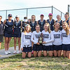 The Exeter Girls Tennis Team with Coach Marran Ranks (L) pose for a photo with the 2016 NHIAA DIV I Girls Tennis Runner-up plaque after loosing to Bedford in the Div I State Finals on Wednesday @ Pinkerton Academy on 6-1-2016.  Matt Parker Photos
