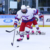 Winnacunnet's #19 Wil Saunders makes a break with the puck during Saturday's NHIAA DIV II Boys Ice Hockey game between Winnacunnet and Portsmouth High Schools on 1-9-2016 @ The Rinks at Exeter. Matt Parker Photos