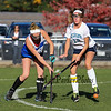 Winnacunnet's Abby Merrill takes a shot with York's #12 Allie Lawlor defending during Monday's Interstate scrimmage between York and Winnacunnet High Schools on 10-17-2016 @ York, ME.  Matt Parker Photos