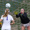 Winnacunnet's Goal Keeper Emily Parks tracks a shot by BG during Friday's NHIAA DIV I Girls Soccer Game between Winnacunnet and Bishop Guertin High Schools on 10-21-2016 @ WHS.  Matt Parker Photos