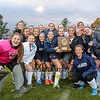 York players pose with the Field Hockey Class B South Champions 2016 plaque after winning Wednesday's game vs Yarmouth High School on 10-26-2016 @ Massabesic HS, Waterboro, ME.  Matt Parker Photos