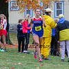 Winnacunnet's Taylor Yeley warms up prior to the Girls race at the NHIAA DIV I Cross Country Championships on Saturday 10-29-2016 @ Derryfield Park, Manchester, NH.  Matt Parker Photos
