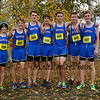 Winnacunnet Boys Cross Country runners (L to R) Devin Eaton, Noah Taracena, Matthew Fiorentini, Hayden O'Hara, Austin Denis, Jack Taylor, Tommy Baker pose for a photo at the NHIAA DIV I Cross Country Championships on Saturday 10-29-2016 @ Derryfield Park, Manchester, NH.  Matt Parker Photos