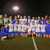 The Winnacunnet Field Hockey team Players and Coaches pose for a team photo with the Runner-up plaque  at the NHIAA DIV I Field Hockey Championships on Sunday 10-30-2016 @ Bedford HS.  Matt Parker Photos