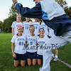 Photo Bomb by Coach Barb Marois during the York girls Senior photo shoot at Tuesday's Western Maine Conference Class B South Girls Field Hockey game between York and Greely High Schools on 10-4-2016 @ York.  Matt Parker Photos