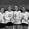 Winnacunnet Seniors  #16 Sophia Stefanov, #17 Maddie Allen, #15 Lily Martin and #12 Stephanie Rheume pose for a photo at Wednesday's NHIAA DIV I Girls Volleyball game between Winnacunnet and Nashua North High Schools on 10-5-2016 @ WHS.  Matt Parker Photos