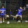 """WHS Warriors Soccer hosts a, """"Meet The Team Night"""" on Thursday,October 6th from 6pm to 7:30pm at the WHS soccer field. Boys and Girls from the Warrior community work on their soccer drills with the Winnacunnet players on 10-6-2016 @ WHS.  Matt Parker Photos"""
