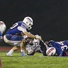 Panthers #24 Myles Johnson is tackled by Winnacunnet's #20 Matt Havey and #34 Devin Miller during Friday Night's NHIAA DIV I Football game between Winnacunnet and Nashua South on 10-7-2016 @ WHS.  Matt Parker Photos