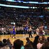 Jump ball to start the game at the Boston Celtics vs New York Nicks NBA Basketball on Friday 11-11-2016 @ Boston Garden, Boston, MA.  Celts-115, Nicks-87.  Matt Parker Photos