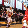 Huskies Freshman #14 Shannon Todd of York Maine looks for an open opportunity during Friday's Women's DIV I game Between Northeastern University and Boston University on 11-11-2016 @ The Cabot Center, NU.  Matt Parker Photos