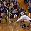Exeter's #5 Jessica Peirce gets low to get to a Cavaliers serve during Wednesday's NHIAA DIV I Semifinal game between Exeter and Hollis Brookline High Schools @ Pinkerton Academy, Derry, NH on 11-2-2016.  Matt Parker Photos