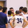 Great Bay's Coach Sean Young gives instruction during a timeout during Tuesday's YSCC-USCAA Men's Basketball game between Great Bay Community College and University of Maine Agusta on 11-8-2016 @ GBCC.  Matt Parker Photos