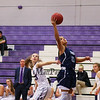 York's #21 Jackie Tabora gets around Marshwood's #33 Natalie Herbold while driving looking to make a basket from the paint during Thursday's Class A South Girls Basketball game between Marshwood and York High Schools on 12-15-2016 @ MHS.  Matt Parker Photos