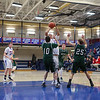Winnacunnet Warriors Boys Basketball home opener vs The Green Wave of Dover on Friday 12-16-2016 @ WHS.  Matt Parker Photos