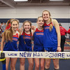 Winnacunnet Girls 4x160 team (L to R) Milaena Bowden, Izzy Johnson, Caitlin Capezzuto and Hope Olson pose for a photo after their race where they finished in a time of 1:39.54 at Sunday's NH Indoor Winter Track meet evening session on 12-18-2016 @ Paul Sweet Oval, UNH, Durham, NH.  Matt Parker Photos