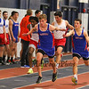 Winnacunnet's Matt Gigliotti hands the baton off to Brandon Hanley in the Boys 4x160 Relay finishing 3rd with a time of 1:19.44 at Sunday's NH Indoor Winter Track meet evening session on 12-18-2016 @ Paul Sweet Oval, UNH, Durham, NH.  Matt Parker Photos