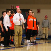 Keene's Coach Kevin Ritter makes a call from the sidelines during Tuesday's NHIAA DIV I Boys Basketball game between Winnacunnet and Keene High Schools on 12-20-2015 @ WHS.  Matt Parker Photos