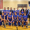The Winnacunnet Warriors Boys Basketball poses with their trophy after their win over Spaulding in the Championship game to win the 2016 Oyster River High School Bobcat Invitational Boys Basketball Tournament on Wednesday 12-28-2016 @ Oyster River HS.  Matt Parker Photos