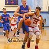 Winnacunnet's #10 Freddy Schaake gets fouled by Spaulding's #25 Matt Roy while driving in for a layup during Wednesday's Championship game at the  2016 Oyster River High School Bobcat Invitational Boys Basketball Tournament on 12-28-2016 @ Oyster River HS.  Matt Parker Photos