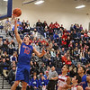 Winnacunnet's #10 Freddy Schaake drives to the hoop for a layup during Wednesday's Championship game at the  2016 Oyster River High School Bobcat Invitational Boys Basketball Tournament on 12-28-2016 @ Oyster River HS.  Matt Parker Photos