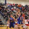 Winnacunnet's #23 Ben Allen goes up for a layup with Spaulding's #25 Matt Roy defending and Winnacunnet's #24 Seth Provencher looking on during Wednesday's Championship game at the  2016 Oyster River High School Bobcat Invitational Boys Basketball Tournament on 12-28-2016 @ Oyster River HS.  Matt Parker Photos
