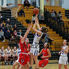 Winnacunnet's #20 Danielle Boucher takes a jump shot with Central Catholic's #10 Nicole Elbeery defending during Wednesday's Girls Basketball Game at the 2016 Commonwealth Christmas Classic Tournament between Winnacunnet and Central Catholic High Schools on 12-28-2016 @ North Andover High School, N. Andover, MA.  Matt Parker Photos