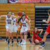 Winnacunnet's #20 Danielle Boucher heads up the court after getting a rebound during Wednesday's Girls Basketball Game at the 2016 Commonwealth Christmas Classic Tournament between Winnacunnet and Central Catholic High Schools on 12-28-2016 @ North Andover High School, N. Andover, MA.  Matt Parker Photos