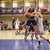 Winnacunnet Warriors Girls Basketball vs Exeter Blue Hawks on Thursday @ WHS on 2-11-2016.  WHS-63, EHS-27.  Winnacunnet's #14 Meg Knollmeyer 1,000 points. Matt Parker Photos