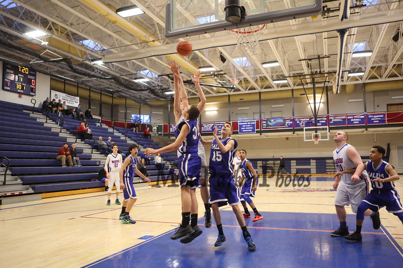 Winnacunnet Warriors Boys Basketball vs Salem Blue Devils on Friday 2-12-2016 @ WHS.  Matt Parker Photos